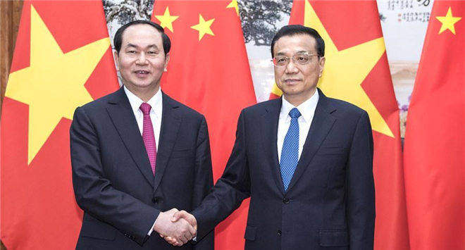 Chinese premier meets Vietnamese president