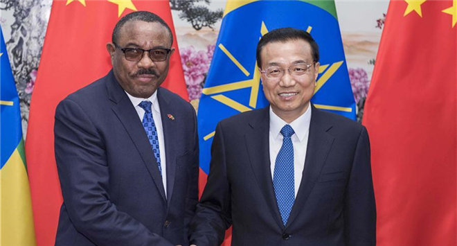 Chinese premier meets with Ethiopian PM in Beijing