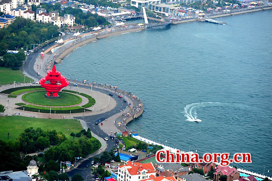 Qingdao, Shandong Province, one of the 'top 10 new first tier Chinese cities' by China.org.cn.