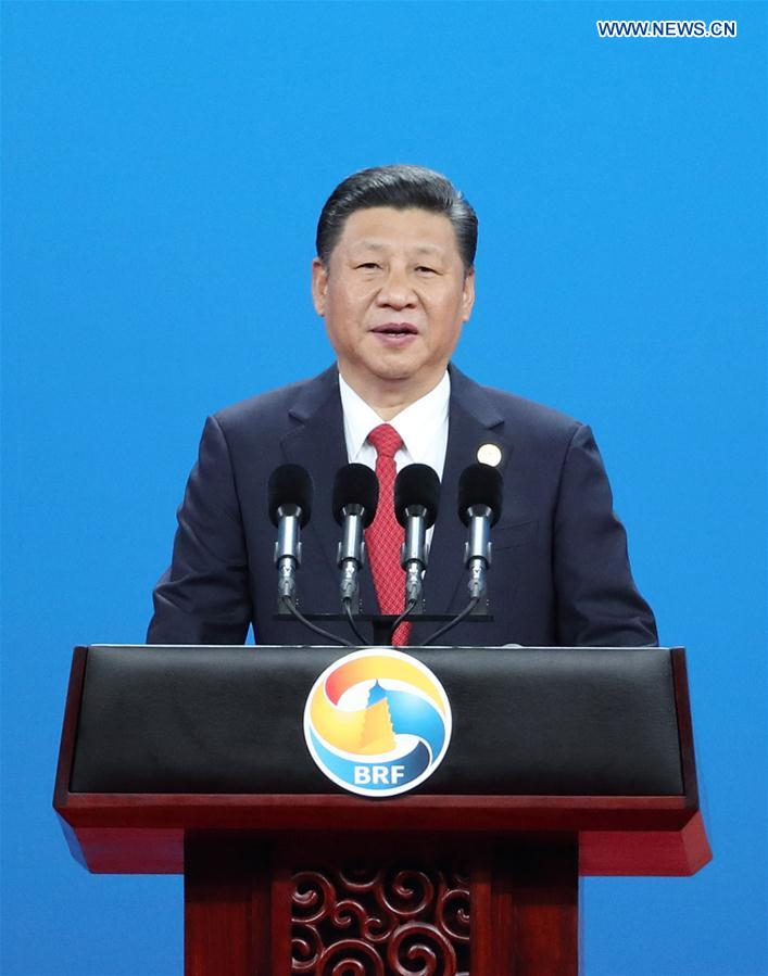 (BRF)CHINA-BEIJING-XI JINPING-BELT AND ROAD FORUM-KEYNOTE SPEECH(CN)