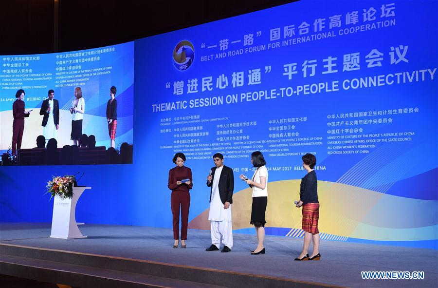 (BRF)CHINA-BELT AND ROAD FORUM-THEMATIC SESSION-PEOPLE-TO-PEOPLE CONNECTIVITY (CN)