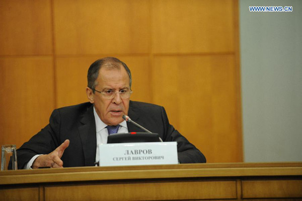 Russian Foreign Minister Sergei Lavrov speaks during a press conference in Moscow, Russia, Jan. 21, 2015. (File photo / Xinhua)