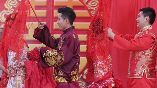 Many Chinese couples get married on May 20