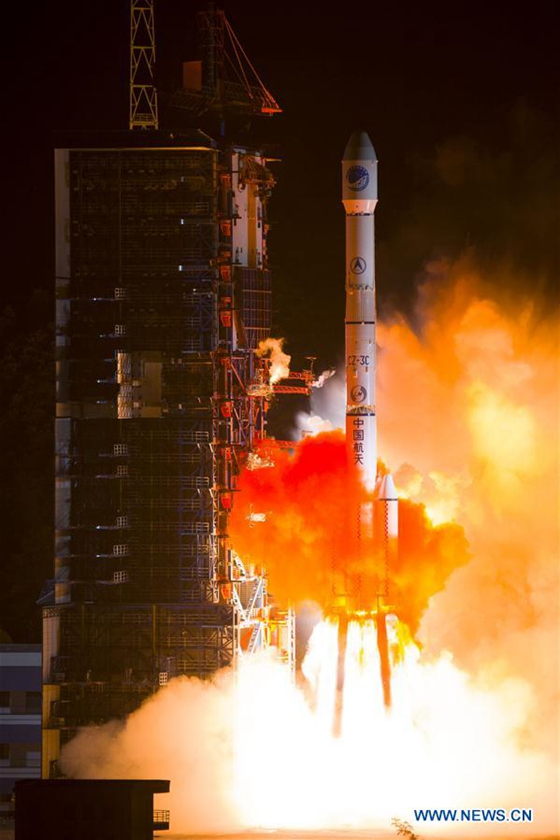 A Long March-3C carrier rocket carrying the 23rd satellite in the BeiDou Navigation Satellite System (BDS) lifts off from Xichang Satellite Launch Center, southwest China's Sichuan Province, June 12, 2016. [Photo/Xinhua]