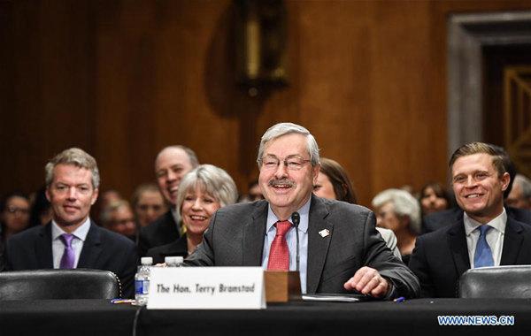 US Senate confirms Terry Branstad as Ambassador to China