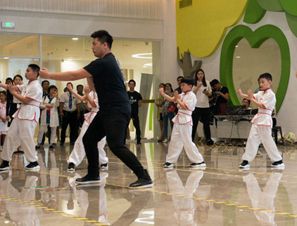 Wing Chun kungfu performance at Children's Day celebration
