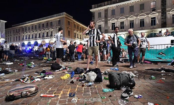 Injured in Juventus Fan Panic After Bomb Scare