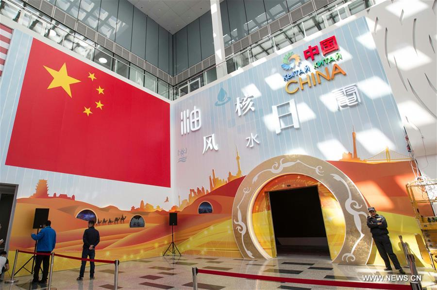 Photo taken on June 7, 2017 shows the Chinese Pavilion on the World Expo in Astana, Kazakhstan. The Chinese pavilion, with the theme 'Future energy, green Silk Road,' covers around 1,000 square meters and is among the largest at the expo. The Chinese pavilion will display the country's achievements in developing and using energy through multimedia, virtual reality technology and other means. (Xinhua/Wu Zhuang)