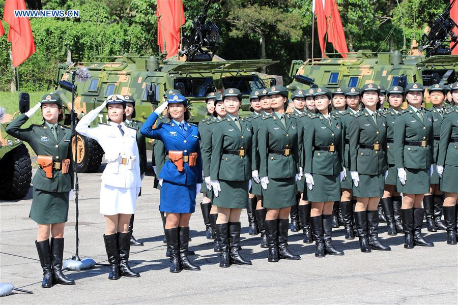 CHINA-HONG KONG-20TH ANNIVERSARY-PLA GARRISON-INSPECTION (CN)
