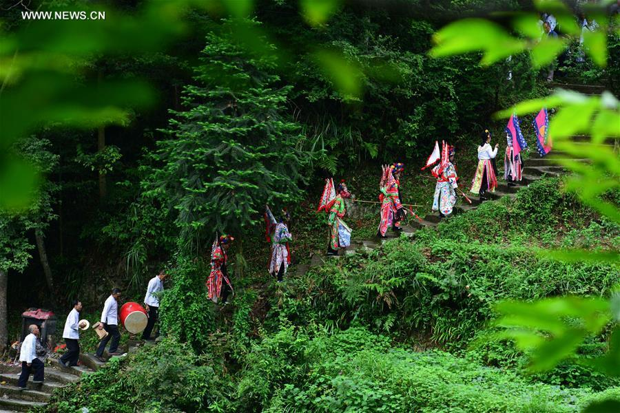 #CHINA-GUIZHOU-VILLAGE-TRADITIONAL OPERA TROUPE (CN)
