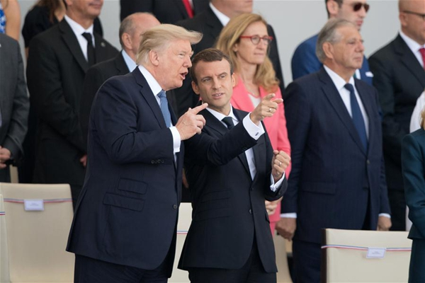 Trump tells Brigitte Macron: