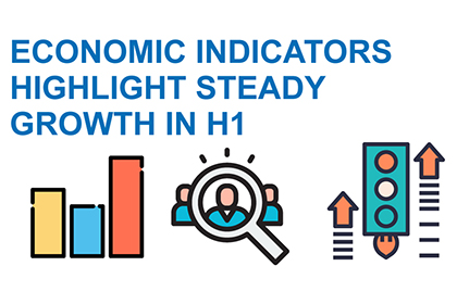 Economic indicators highlight steady growth in H1