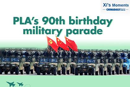 PLA's 90th birthday military parade
