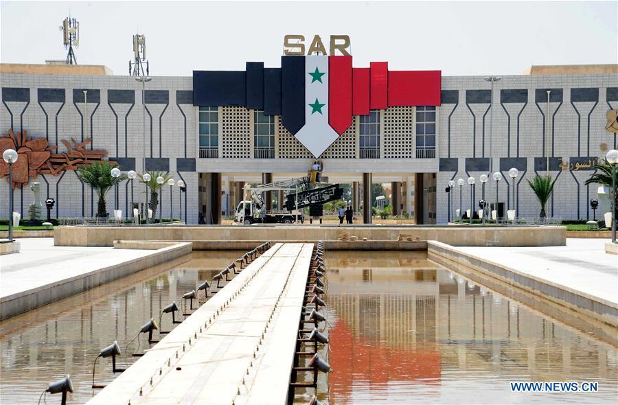 SYRIA-DAMASCUS-INTERNATIONAL FAIR-PREPARATION