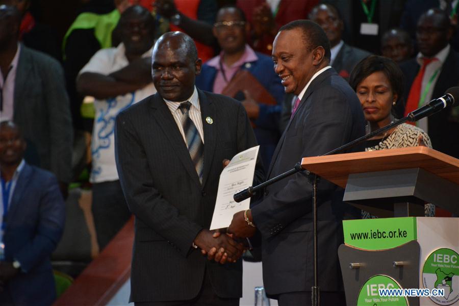 KENYA-NAIROBI-PRESIDENTIAL ELECTION-UHURU KENYATTA-WINNING