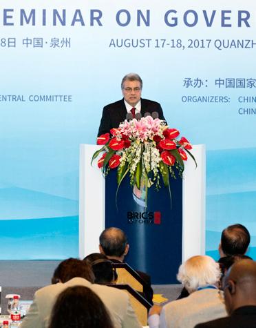 Highlights of Ronnie Lins' speech at BRICS governance seminar