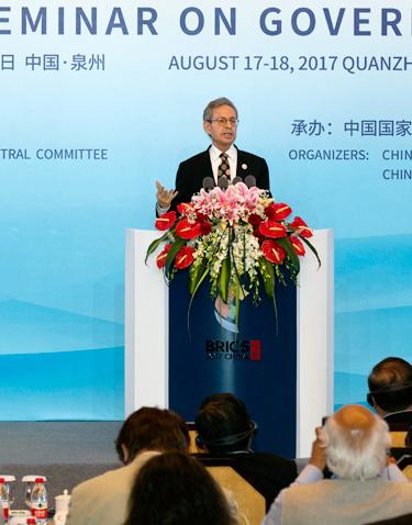 Highlights of Dr. Kuhn's speech at BRICS governance seminar