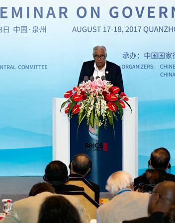 Highlights of Dr. Essop Goolam Pahad's speech at BRICS governance seminar