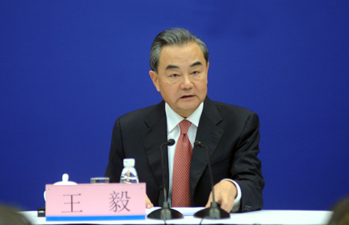 Chinese Foreign Minister Wang Yi holds a press briefing on the upcoming BRICS Xiamen Summit in Beijing, Aug. 30, 2017. [Photo/fmprc.gov.cn]