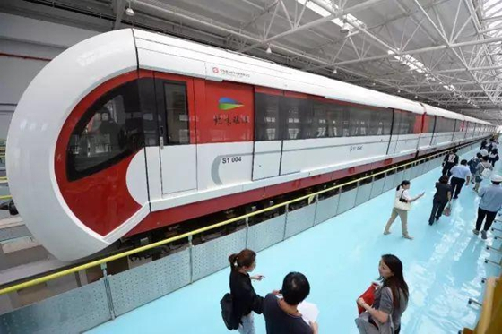 Beijing tests Line S1, Beijing's first medium-low speed maglev line. [Photo/Beijing Daily]
