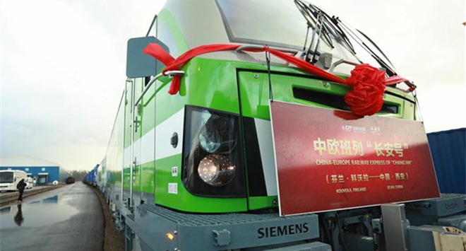 Feature: Cargo railway inking Finland and China opens