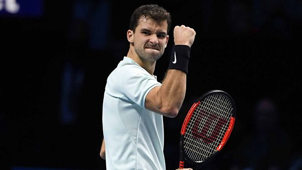 Sublime Dimitrov thrashes Goffin to reach semis