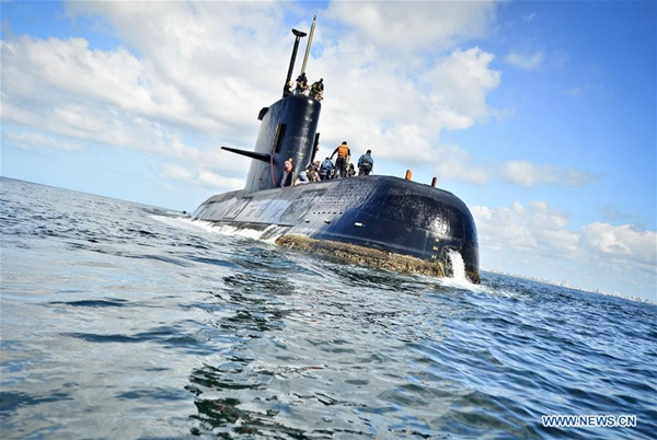 Distress calls bring hope to search for missing Argentina sub