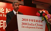 Indian Ambassador to China S. Jaishankar speaks at the India-China Development Forum, which is held in Beijing on March 30, 2010 to mark the 60th anniversary of China-India diplomatic relations. [China.org.cn]