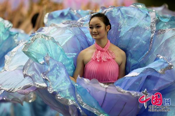 2008年8月8日,中国北京,北京奥运会开幕式垫场演出。