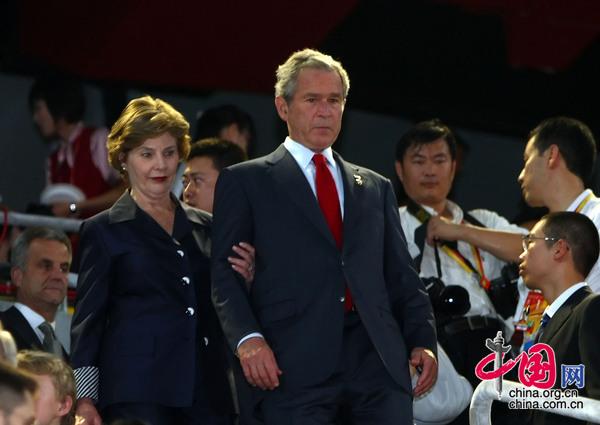 美国总统布什及夫人