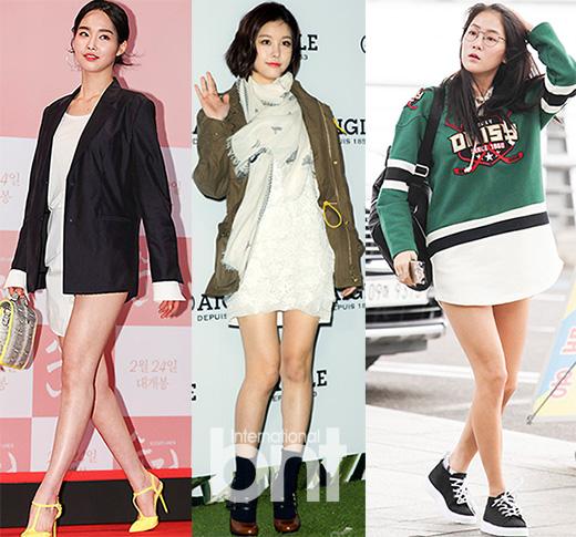 韩潮来袭:随韶宥等韩星演绎下衣失踪装 性感出街