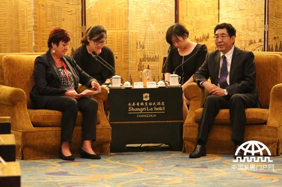 吉林省委书记巴音朝鲁在长春会见奥地利联邦议会前议长、司法委员会主席、亚太总裁协会全球副主席苏珊娜 库尔茨。