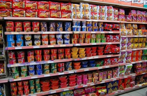 超市泡面货架摆设内容|超市泡面货架摆设版面设计图片