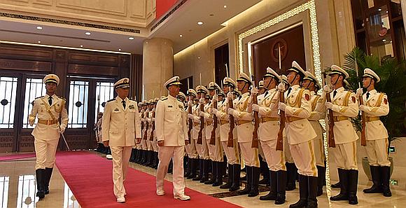 吳勝利會見美國海軍作戰部長約翰·理查德森一行