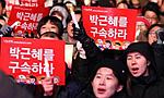 韩国民众举行第六轮大型集会要求朴槿惠下台