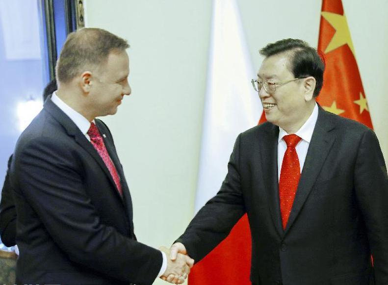 張德江對波蘭進行正式友好訪問