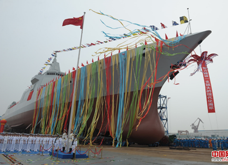 中国海軍1万トン級駆逐艦が進水 空母艦隊に所属か