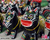 """Enciclopedia de la cultura china: El tótem antiguo """"perro de arcilla"""""""