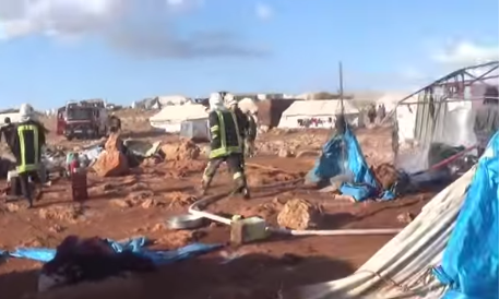 28 muertos en un ataque aéreo sobre un campamento sirio de refugiados