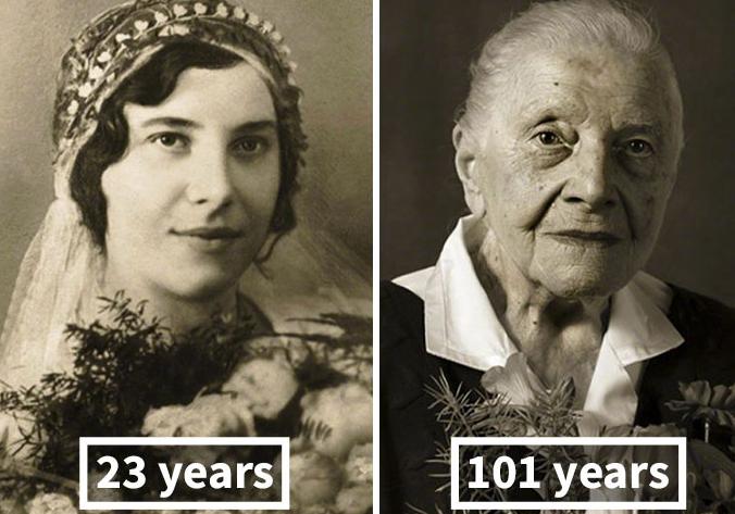 Las huellas dejadas por el tiempo, de 23 años a 100 años