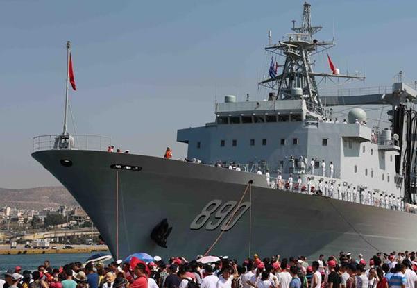 Flota naval china llega a Grecia para visita amistosa
