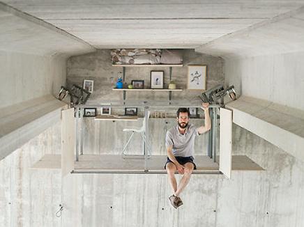 El diseñador sorprende al mundo construyendo un estudio secreto debajo de puente
