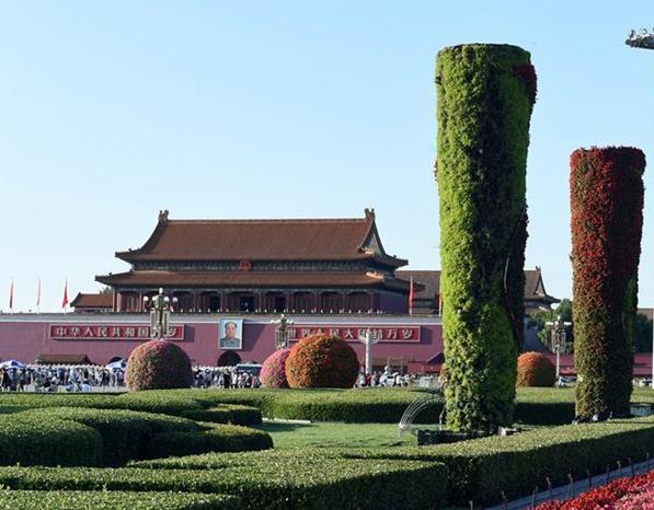 Terrazas de flores serán colocadas en la capital para celebrar el Día Nacional
