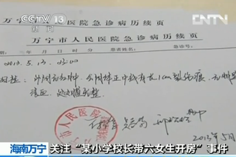 Molested sixth graders to be reexamined- China.480