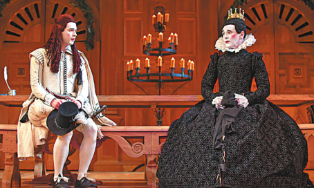 A new production of William Shakespeare's Twelfth Night featuring an all-male cast. [Photo provided to China Daily]