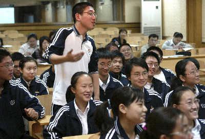 昨日,上海向明同学一位数学正提出问题所回答的中学.(张栋摄)教学设计分式老师初中图片