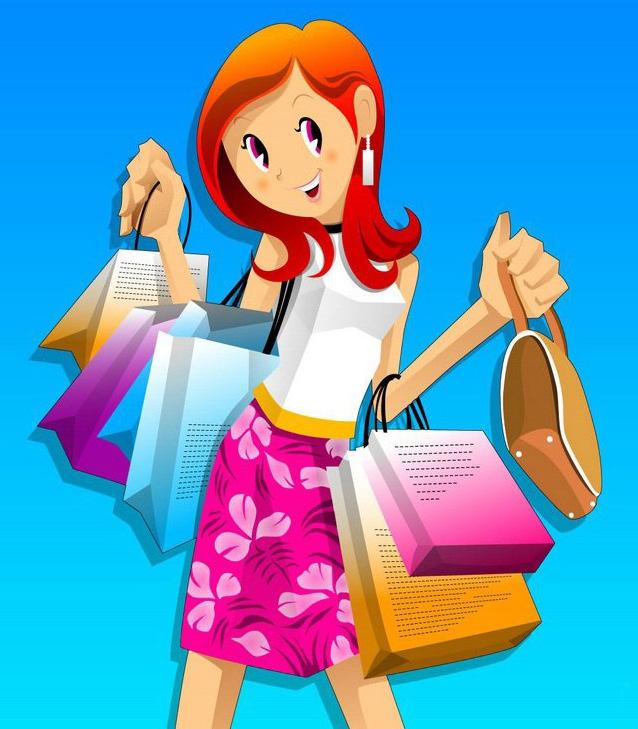 购物:疯狂的喜爱 美女=天生购物狂?