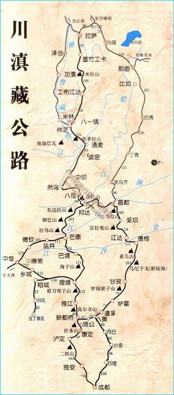 图解西藏旅游线路攻略