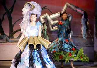 Fashion made of recycled materials on show for Designers that use recycled materials