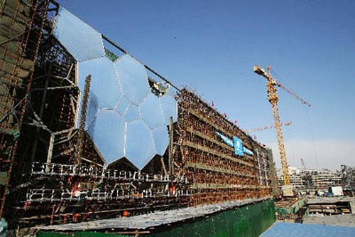 Water Cube Membrane Structure Completed China Org Cn